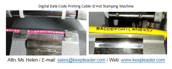 Digital Date Code Printing Cable ID Hot Stamping Machine